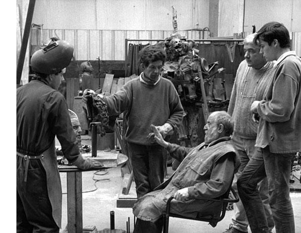 Séance de travail avec César, 1997